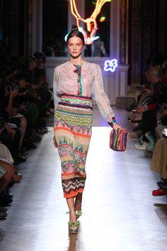 #TsumoriChisato | #SS13. #runway #maxiskirt #striped #tribal #geometric…