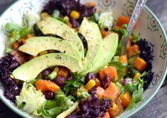 Photo Okra, Cobb Salad, Sweet Potato, Potato Salad, Vitamins, Food And Drink, Potatoes, Health, Ethnic Recipes