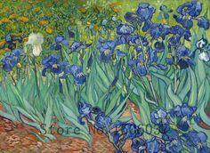 Pas cher Livraison gratuite imprimé seule image affiche Iris de Van Gogh…