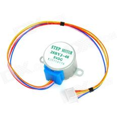 DIY 5V Stepper Motor / Reduction Motor - Silver + Blue. Color: H1208005 - Material: PCB + electronic components - Rated voltage: DC 5V - Phase: 4 - Reduction ratio: 1/64 - DC resistance: 200ohm??7% (25'C) - Insulated resistance: >10Mohm (500V) - Dielectric strength: 600VAC/1mA/1s - Insulation grade: A - No-load pull in frequency: >600Hz - No-load pull out frequency: >1000Hz - Pull in torque: >34.3mN.m - Self-alignment torque: >34.3mN.m - Noise: - Suitable for DIY projects. Tags: #Electrical…