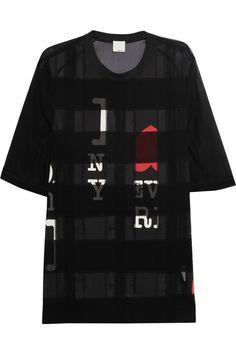 3.1 Phillip LimPaneled silk-chiffon T-shirt