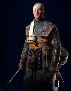 ArtStation - Ilya Gagarin's submission on Feudal Japan: The Shogunate - Game Character Art (real-time) Game Character, Character Concept, Concept Art, Medieval, Ghost Of Tsushima, Japan Architecture, Japan Games, 3d Figures, Japan Outfit
