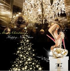 """Golden Christmas by ƎG°"" by eleonoragocevska ❤ liked on Polyvore"