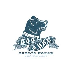 Dog & Bee Pub Logo by Howdy, I'm H. Michael Karshis | #corporate #branding #creative #logo #personalized #identity #design #corporatedesign < repinned by www.BlickeDeeler.de | Visit our website www.blickedeeler.de/leistungen/corporate-design/logo-gestaltung