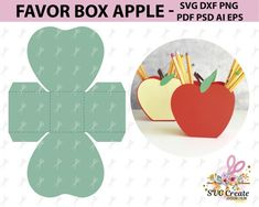 Favor box template pdf favor box printable box template papercut school cut svg diy back to sch Printable Box, Diy Gift Box, Diy Box, Teacher Appreciation Gifts, Teacher Gifts, Paper Cutting, Diy Paper, Paper Crafts, Foam Crafts