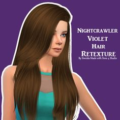 Simista: Nightcrawler Violet Hair Retexture - Sims 4 Hairs - http://sims4hairs.com/simista-nightcrawler-violet-hair-retexture/