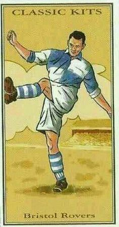 Classic Kits card - Bristol Rovers in the School Football, Sport Football, Soccer, Bristol Rovers Fc, Image Foot, Laws Of The Game, Rugby, Football Stickers, Association Football