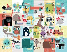 Animal ABC Print by Jillian Phillips