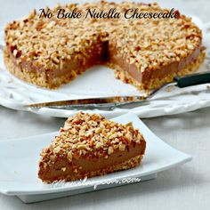Italian Food ~ #food #Italian #italianfood #ricette #recipes ~ No Bake Nutella Cheesecake