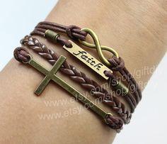 Faith Bracelet karma Bracelet Cross BraceletBest Chosen by giftdiy
