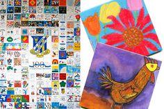 School Tile Murals Tile Murals, Tile Coasters, Fundraising, School, Fundraisers