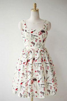 Floral Print Sleeveless Skater Dress OASAP.com (simply pretty)