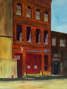 NY City Firehouse Fine Art, City, Artwork, Painting, Work Of Art, Auguste Rodin Artwork, Painting Art, Cities, Artworks