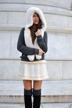 Hat - Zara, Sweater - Abercrombie, Skirt - Vintage Missoni, Boots - Kurt Geiger