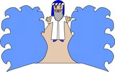 Moses and the Red Sea paper craft Kindergarten Sunday School, Sunday School Crafts For Kids, Sunday School Activities, Sunday School Lessons, Preschool Church Crafts, Children's Church Crafts, Preschool Bible, Religion Activities, Bible Activities