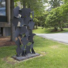 more #ArtOneida #CampusArt - Screen Sculpture #35 by David Hayes @HamiltonCollege