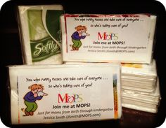 """You wipe runny noises and take care of everyone ... so who's taking care of you?"" Join me at MOPS!"
