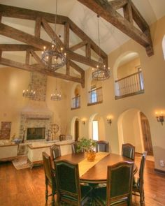 Tuscan.  I love beams, and someday will own a home with lots of exposed beams.