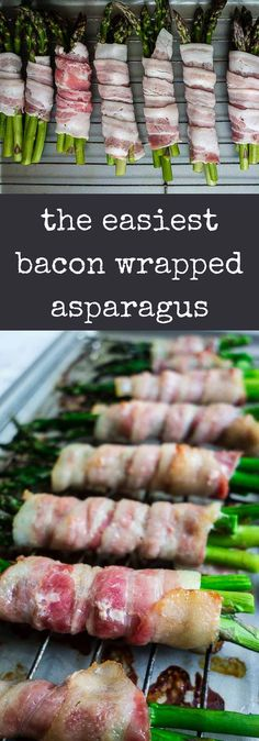 Oven Bacon Wrapped Asparagus Recipe (Video) Oven Bacon Wrapped Asparagus Recipe (Video) This oven baked Bacon Wrapped Asparagus Recipe is super easy to make right in the oven for perfectly crispy bacon and tender asparagus! Asparagus Recipes Oven, Asparagus Appetizer, Asparagus Bacon, Bacon Appetizers, How To Cook Asparagus, Bacon Recipes, Healthy Appetizers, Appetizer Recipes, Party Appetizers