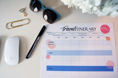 DIY | Travel Itinerary & FREE Printable | The MIAMI Rose