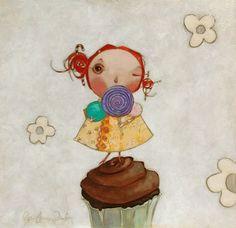 Puddin Face - part of Steel series by Melissa Peck Cupcake Art, Art Corner, Kids Room Art, Paintings I Love, Cute Illustration, American Artists, Art Dolls, Childrens Books, Book Art