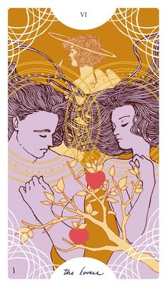 I can't decide which of The Lovers I'll end up printing. I might make separate editions. Is that a thing? Editions of one person's Tarot deck? Maybe it can be.