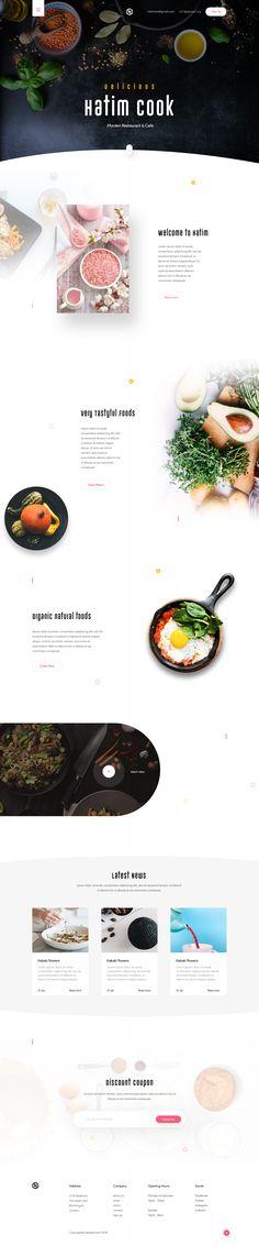 Hatim restaurant landing page