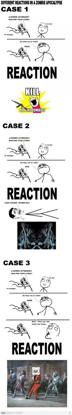 Reactions to zombie apocalypse