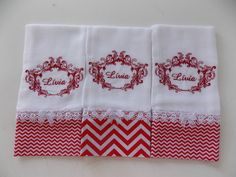 Napkins, Floral, Baby, Personalized Gifts, Baby Things, Rouge, Bedspreads, Towels, Needlepoint