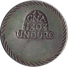 05 Pesetas 1808 Fernando VII. Gerona. UN DURO. Plata