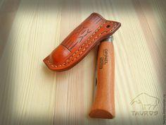 Купить Чехол на Opinel №8 - коричневый, натуральная кожа, ручная работа handmade, opinel, №8
