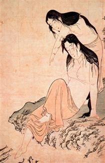 Hour of the Snake Kitagawa Utamaro 1794 Ukiyo-e