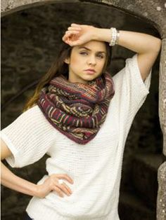 Knit this womens embroidered cowl, a free pattern download from the winner of ou