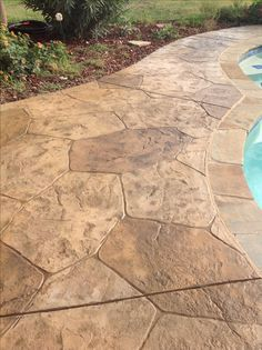 Stamped Concrete Pool Deck...