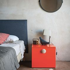 Bedside table with oversized drawer by Nidi Design