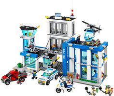 BUILD: LEGO City Police - Police Station by Lego Systems, Inc. - $108.95. Crime doesn't pay – but it sure makes for fun play! Build room after room after room in the Police Headquarters. Build a reception room, control room, processing area, surveillance tower, jail cells, and a full garage.