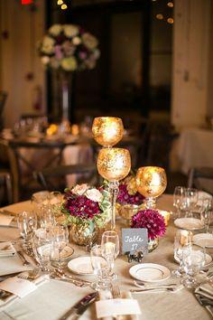 #wedding #reception #centerpiece #magenta #white #beauty