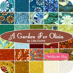 A Garden for Olivia Yardage Lida Enche for In The Beginning Fabrics