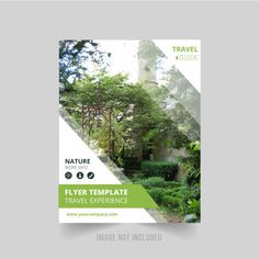 Nature flyer template Free Vector   Free Vector #Freepik #vector #freebackground #freebrochure #freeflyer #freecover Powerpoint Design Templates, Booklet Design, Flyer Template, Page Layout Design, Magazine Layout Design, Web Design, Event Poster Design, Flyer Design Inspiration, Real Estate Flyers