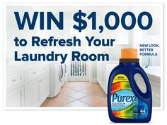 Purex2 Stain Fighter & Bright Booster got an upgrade—better formula, new graphics. To celebrate, we want to upgrade your laundry room by giving away $1,000 from the new Purex2!