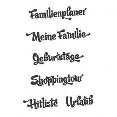 "Stempelset ""Familienplaner"""