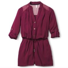 Maroon Romper This piece is perfect for a Sunday funday ☀️ lightly used once Xhilaration Pants Jumpsuits & Rompers