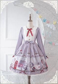 Pink Up -Bunnies In London- Sweet Lolita Dresses - For Custom Sized Dresses