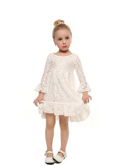 Our So Pretty Little Girls Dress in White is as pretty as can be. All over lace design. Lined. Standard fit Knee length Sizes Color is white Ready to ship in about 3 weeks White Flower Girl Dresses, Little Girl Dresses, Pretty Dresses, White Dress, Pretty Little Girls, Lace Design, Dresses With Sleeves, Wedding Dresses, Color