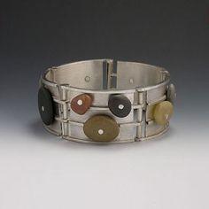 Bracelet | Het Westen - The West Designs.  Ocean pebbles and sterling silver.