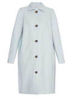 BALENCIAGA Single-Breasted Wool-Blend Coat. #balenciaga #cloth #coat
