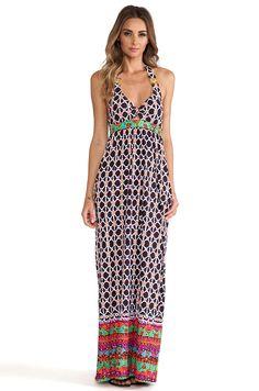 Trina Turk Venice Beach Halter Maxi Dress in Mocha