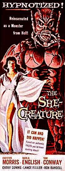 She-Creature movie poster