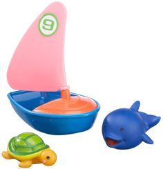 #bebes Happy People 40163 – Velero y animales acuáticos para la bañera