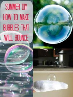 [Another] Bubble Recipe that Makes Bubbles Bounce - Things To Do Yourself - DIY